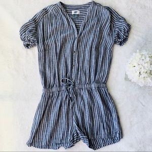 Old Navy Striped Short Sleeves Romper